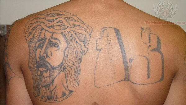 Number 13 Tattoo On Back Ideas And Designs