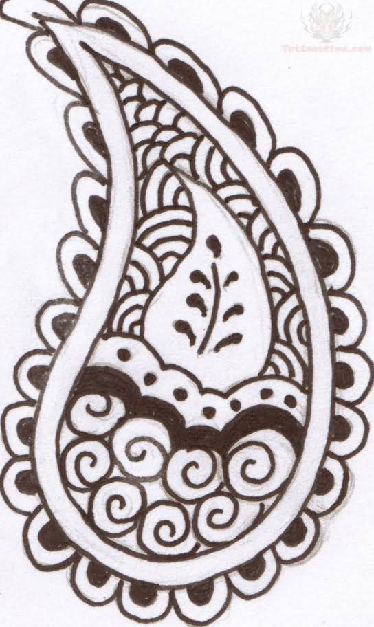 Paisley Pattern Tattoo Images Designs Ideas And Designs