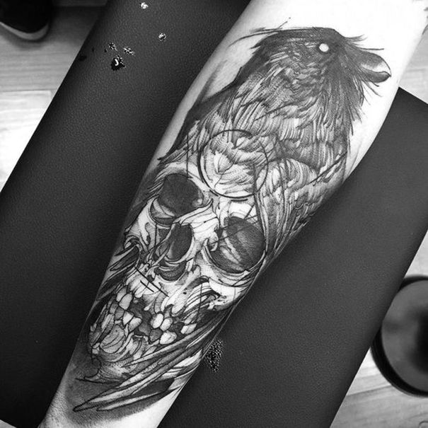 Crow Tattoo Images Designs Ideas And Designs