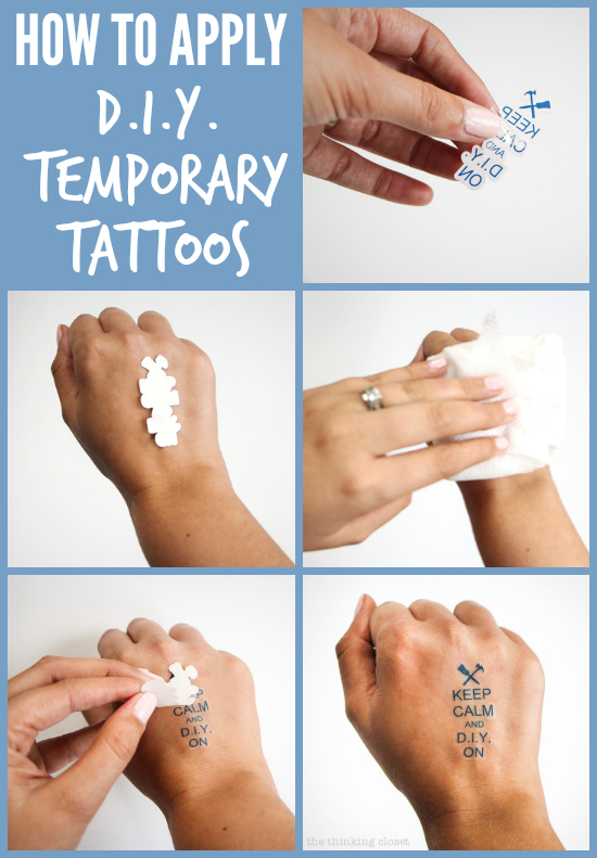 Diy Temporary Tattoos Creative Business Card Swag — The Ideas And Designs