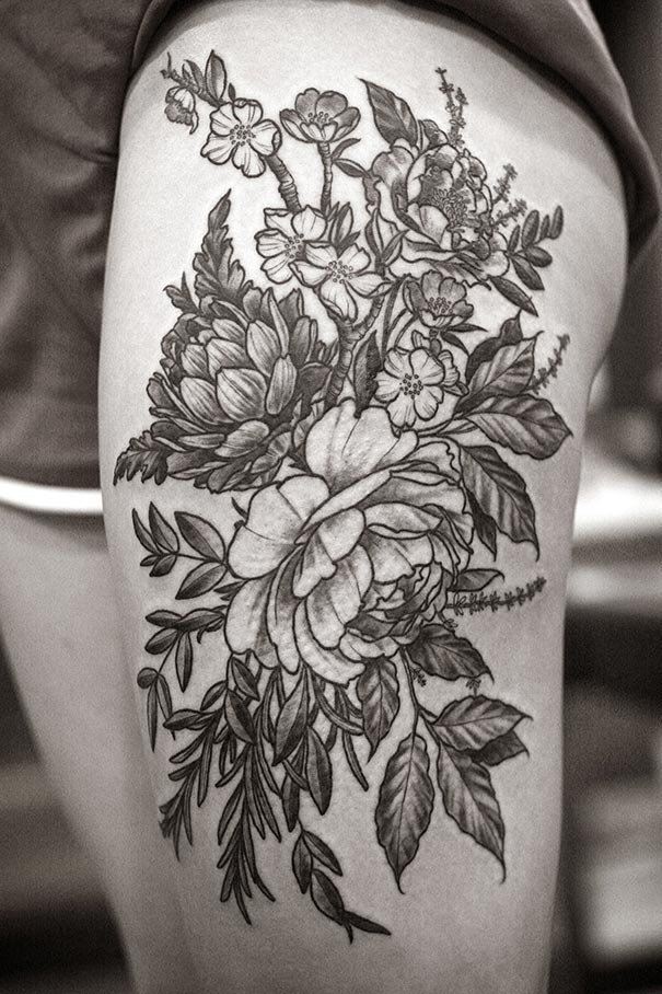 Beautiful Botanical Tattoos By Salem Witch Descendant Ideas And Designs