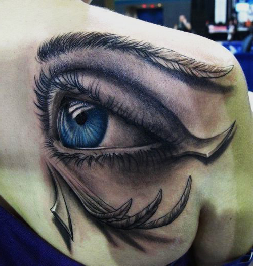 Feather Covered Blue Eye 3D Tattoo Best Tattoo Ideas Gallery Ideas And Designs