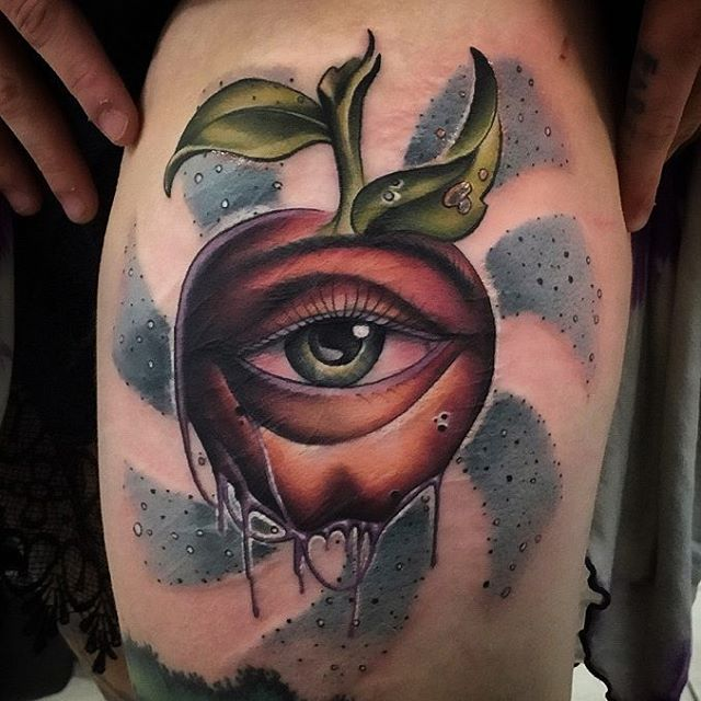 Apple Tattoo Is An Old But Technological Symbol Best Ideas And Designs