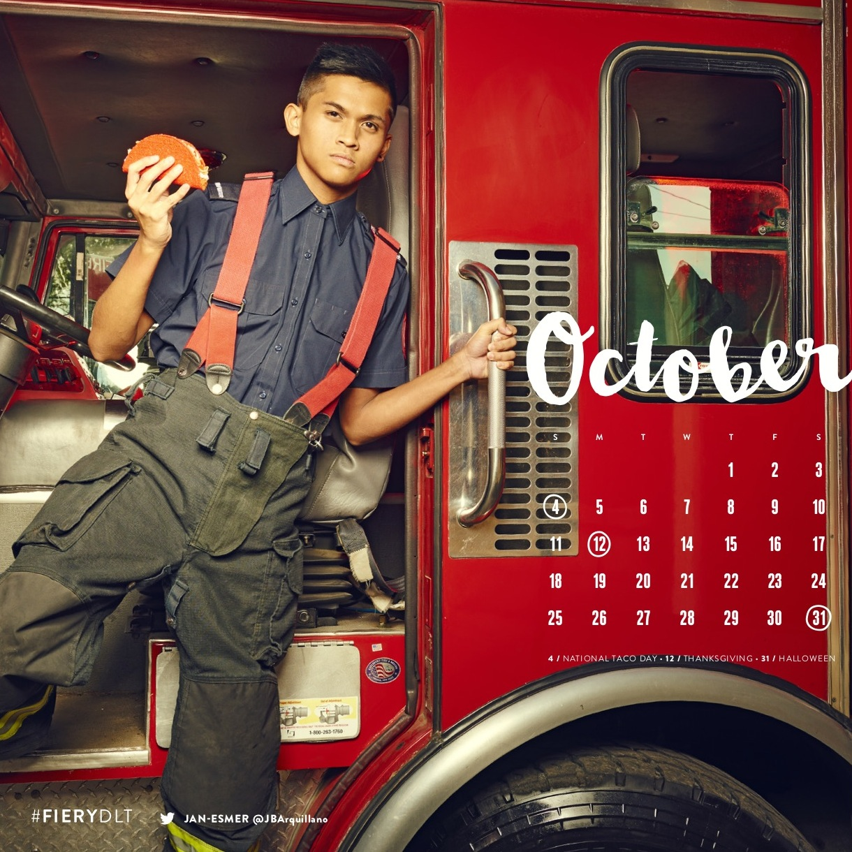 Look At This Taco Bell's 'Fiery' Dlt Firefighter Calendar Ideas And Designs