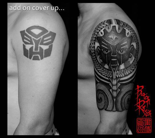 Slashedbybutchrosca Add On Cover Up Tribal Tribal Tattoo Ideas And Designs