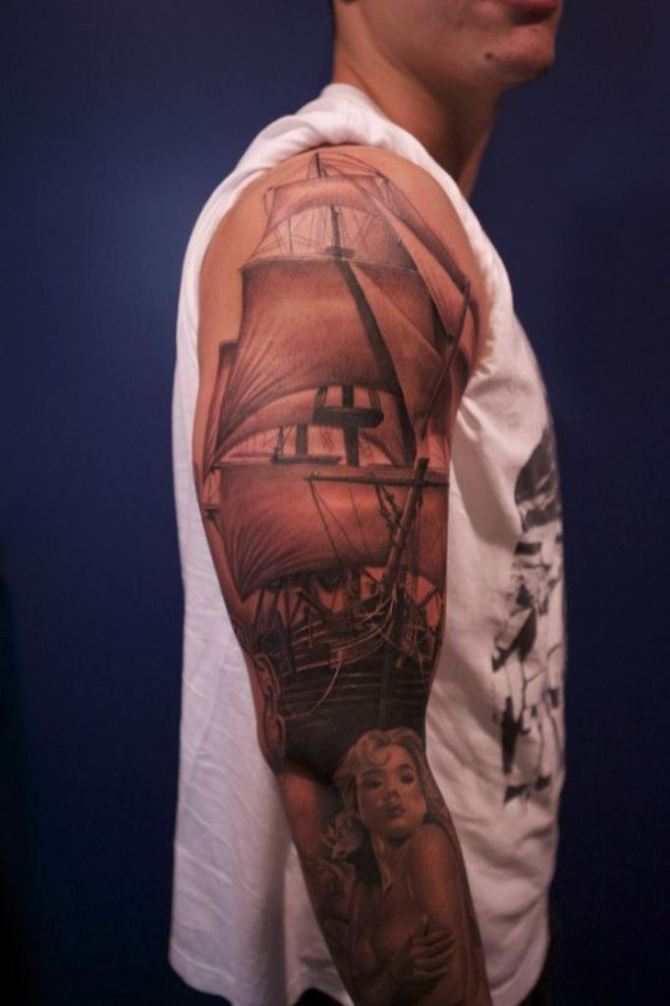 30 Ship Tattoos Tattoofanblog Ideas And Designs