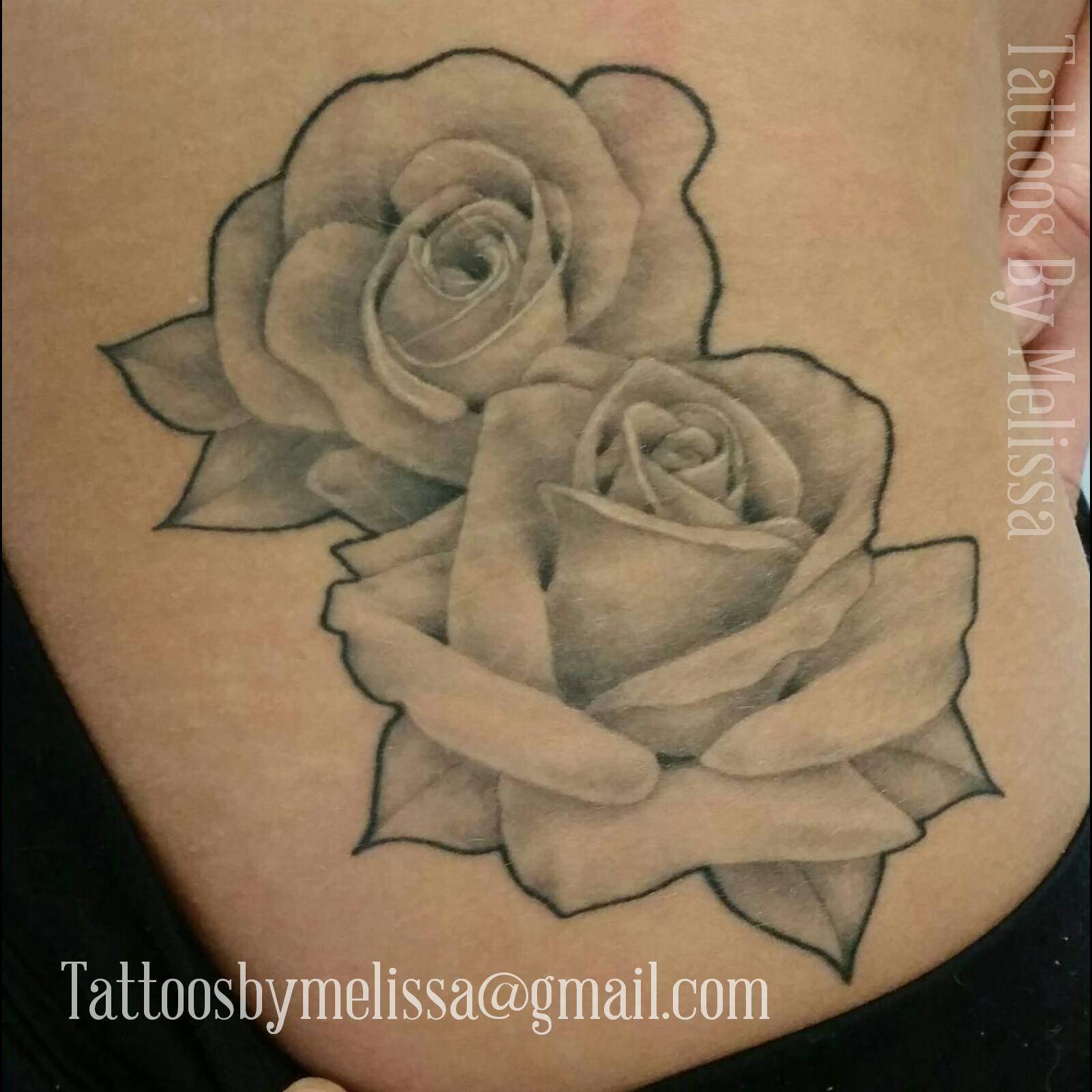 Black And Gray Rose Tattoo Tattoos By Melissa Ellesar Ideas And Designs