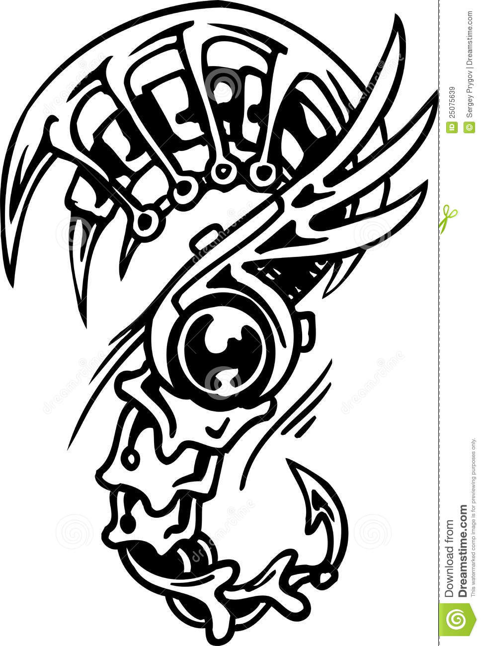 Biomechanical Designs Vector Illustration Royalty Free Ideas And Designs