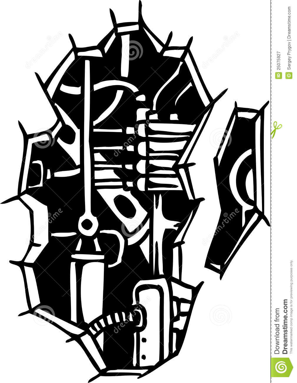 Biomechanical Designs Vector Illustration Stock Vector Ideas And Designs