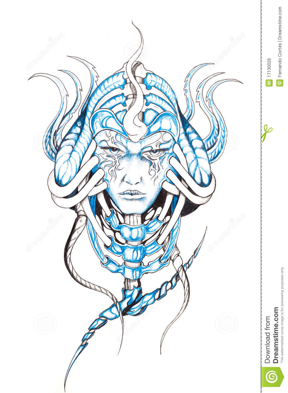 Tattoo Art Sketch Of A Monster Stock Illustration Ideas And Designs
