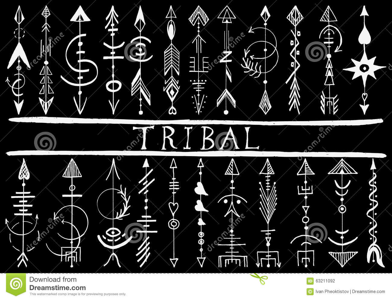 Tribal Hand Drawn Arrow Stock Vector Image 63211092 Ideas And Designs