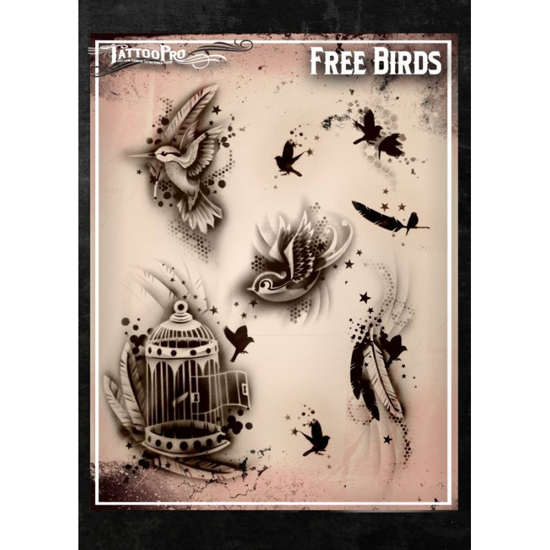 Airbrush Tattoo Pro Stencil Free Birds Ideas And Designs