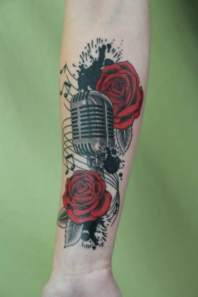 Microphone Tattoos Designs Ideas And Meaning Tattoos Ideas And Designs