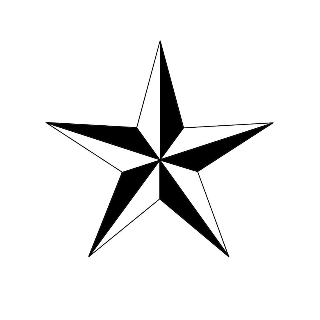 How To Draw A Nautical Star 6 Steps With Pictures Wikihow Ideas And Designs