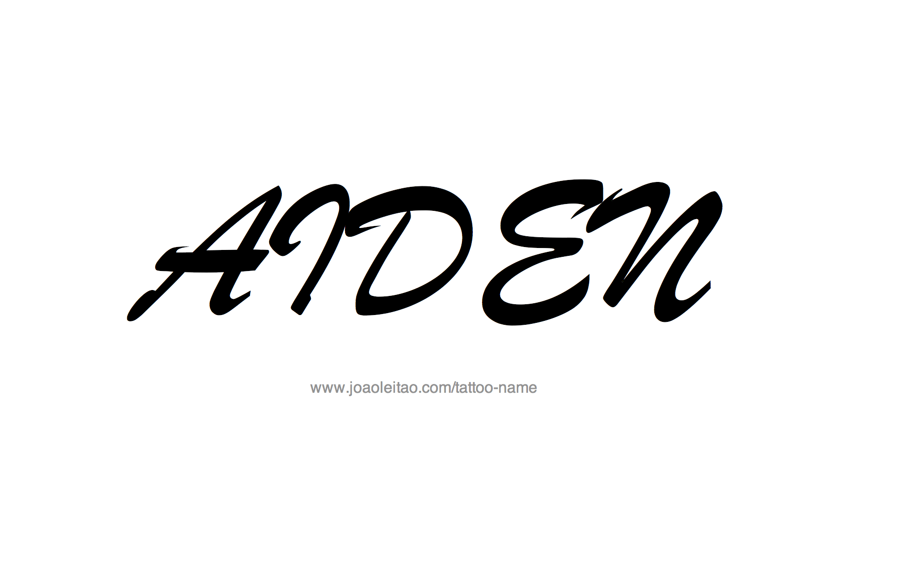 Aiden Name Tattoo Designs Ideas And Designs