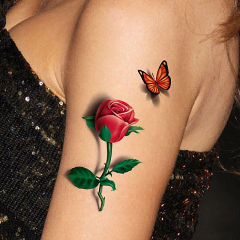1Pcs Women Waterproof Temporary Tatoo Sleeves On Hand 3D Ideas And Designs