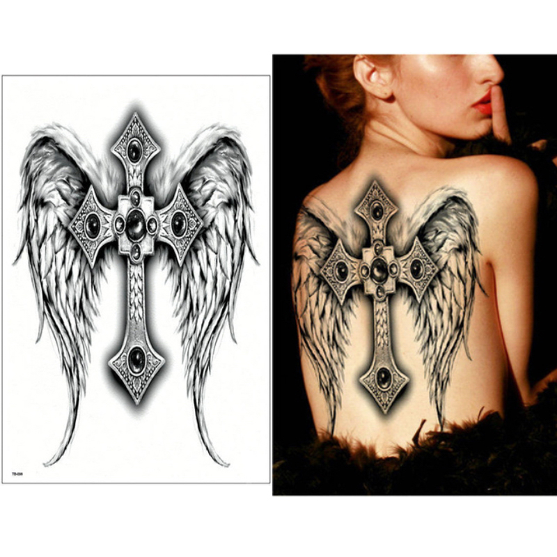 34X48Cm Full Back Large Wings Cross Gemstone Dragon Ideas And Designs