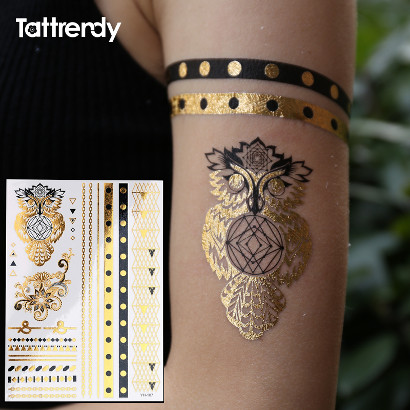 Owl Ring Jewel Temporary Tattoo Fake On The Body Hand Ideas And Designs