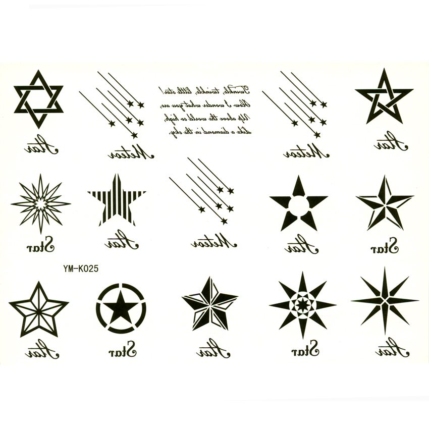 12 Star Temporary Tattoo Tijdelijke Tattoo Manga Tatuaje Ideas And Designs