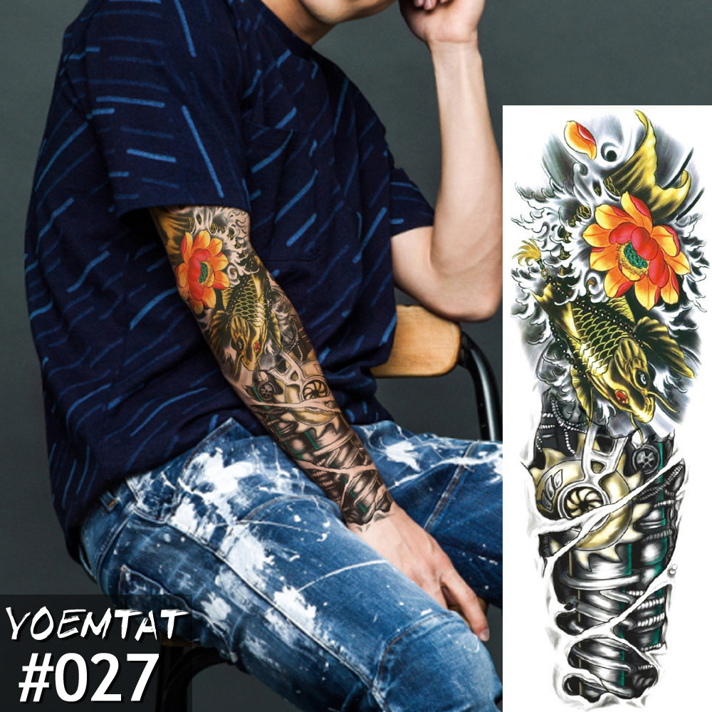 Waterproof Temporary Tattoos Sticker Color Mechanical Full Ideas And Designs