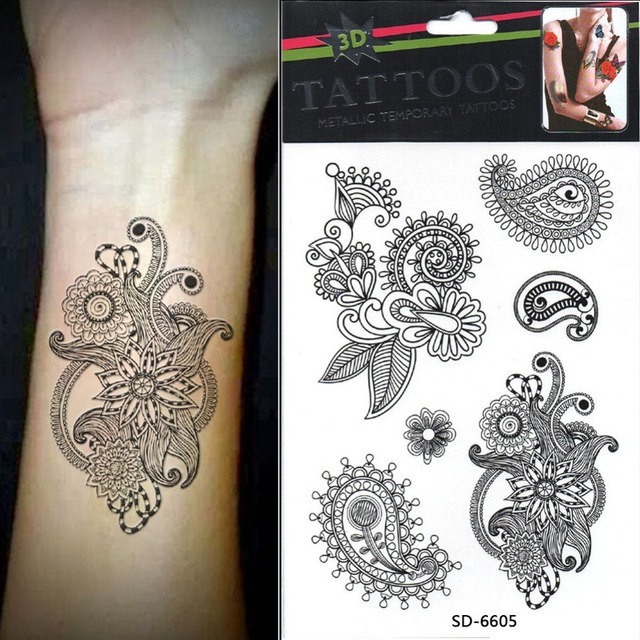 Temporary Gold Tatts Flash Tattoo Black Henna Tattoo Ideas And Designs