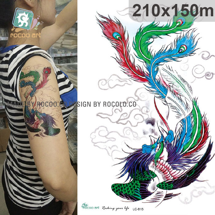 Lc 816 New 2017 3D Big Blue Dragon Designs Cool Temporary Ideas And Designs