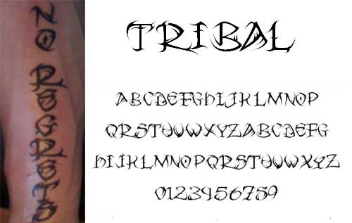 Free Tattoo Fonts With Tribal Designs To Boost Your Font Ideas And Designs