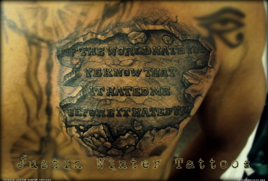 Bible Quotes Chest Tattoos For Men Quotesgram Ideas And Designs