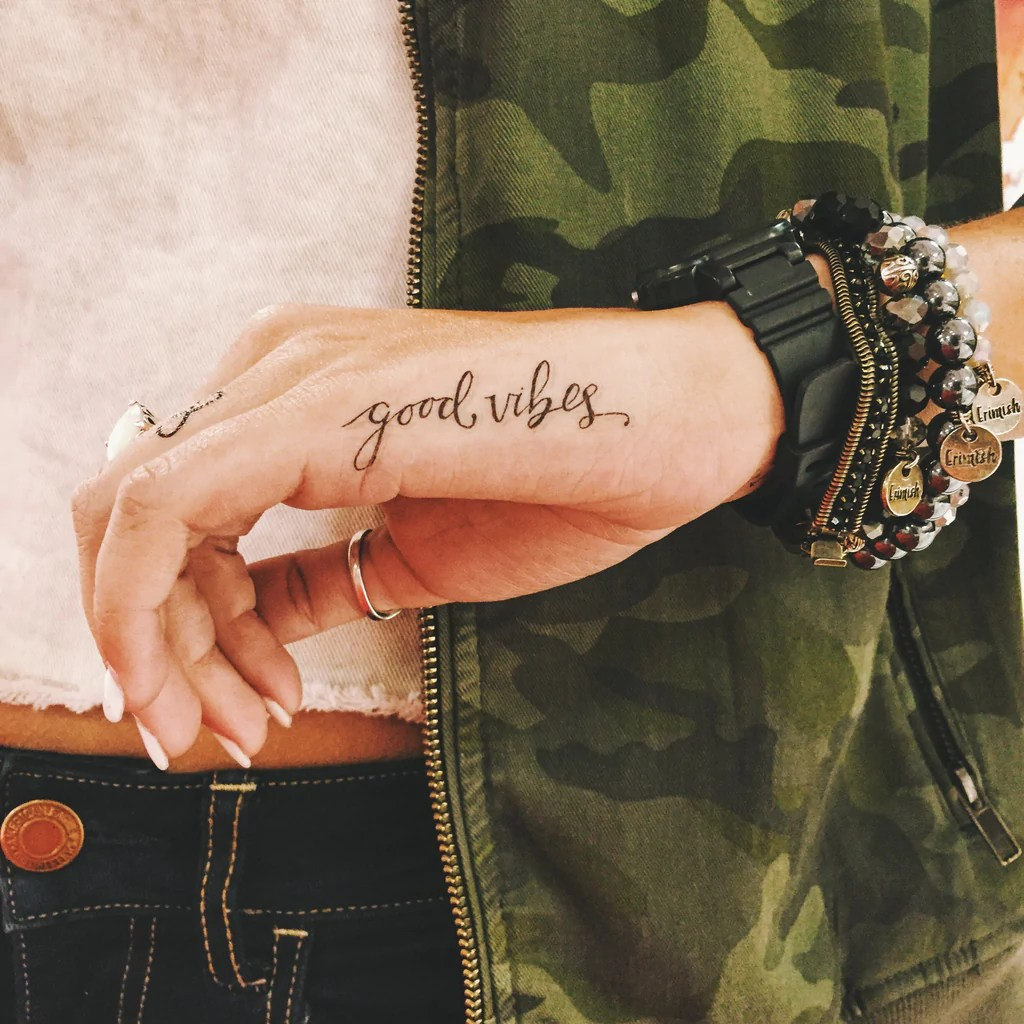 Inked By Dani Temporary Tattoos Good Vibes Ideas And Designs