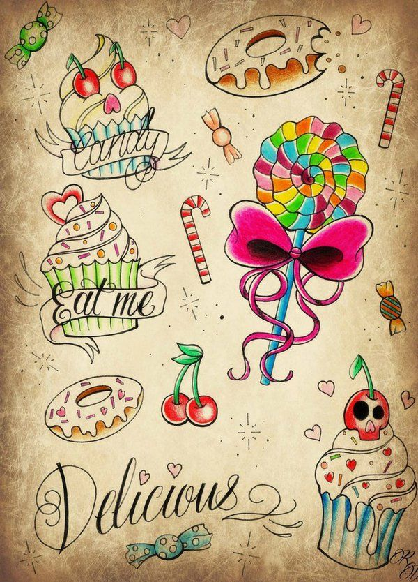 Best 25 Candy Tattoo Ideas On Pinterest Sweet Tattoos Ideas And Designs