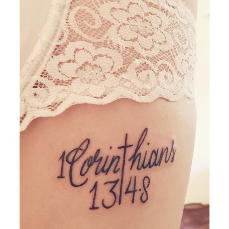 1 Corinthians 13 4 8 Rib Tattoo Tattoos 13 Tattoos Ideas And Designs