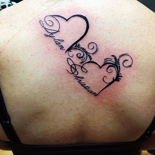 Gallery For Heart Tattoos With Kids Names Tattoos That Ideas And Designs