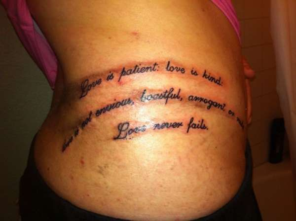 Love Is Patient Tattoo Designs Corinthians 13 4 Tattoo Ideas And Designs