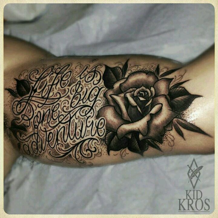 Life Is One Big Adventure Amazing Rose Tattoo Tattoos Ideas And Designs