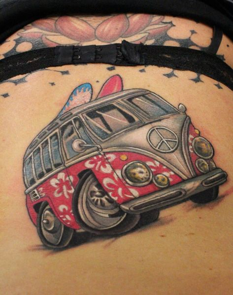 Volkswagen Bus Tattoo Google Search Tattoo Vw Tattoo Ideas And Designs