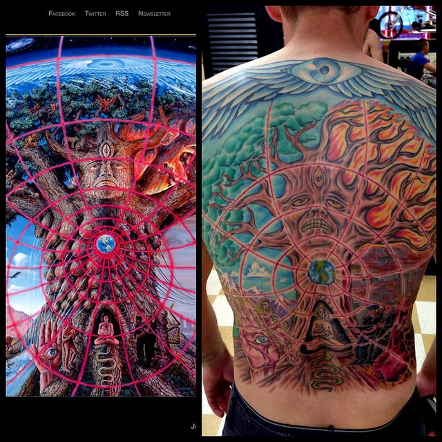 40 Best Alex Grey Back Tattoos For Men Images On Pinterest Ideas And Designs
