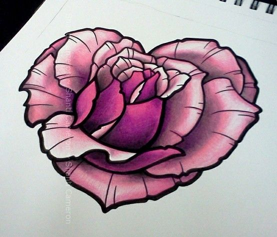Heart Shaped Rose Designed By Shanti Tattoos Tattoos Ideas And Designs