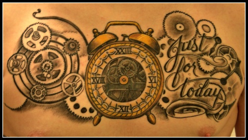 "This Is My 24 Hour Clock With Cogs Gears And ""Just For Ideas And Designs"