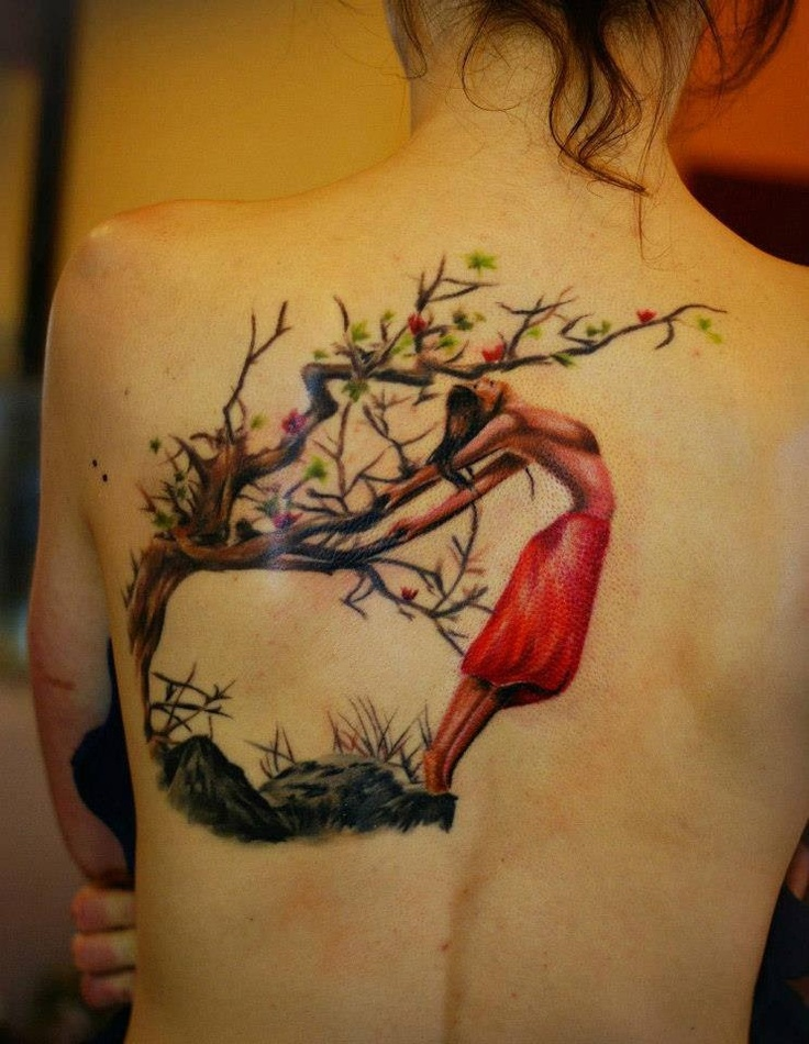 Artistic Tree Girl Tattoo Ink And Street Art Tattoos Ideas And Designs