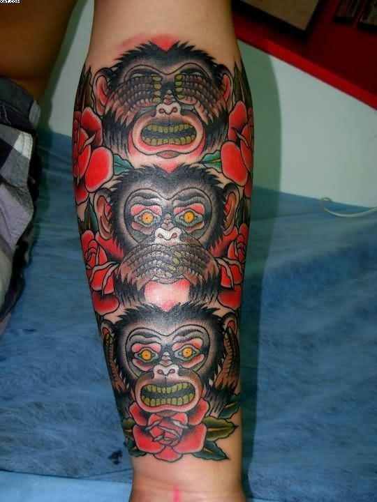 32 Best Scary Monkey Tattoo Images On Pinterest Monkey Ideas And Designs