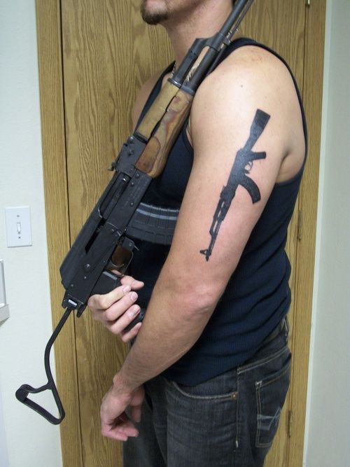 30 Best Ak 47 Rose Tattoos For Men Images On Pinterest Ideas And Designs