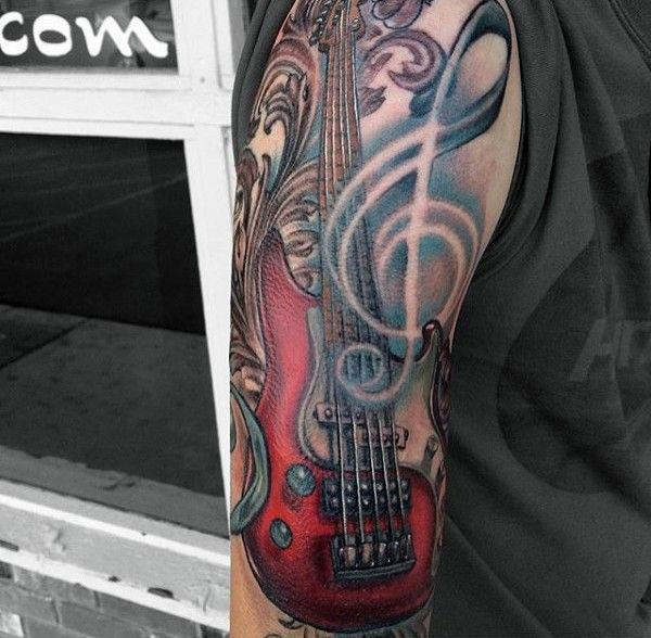 21 Best Bass Guitar Tattoos Images By Tattoomaze On Ideas And Designs