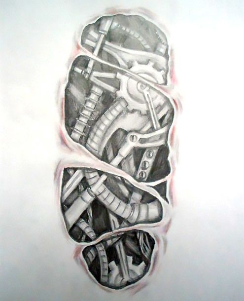 30 Best Biomechanical Tattoo Sketches For Men Images On Ideas And Designs