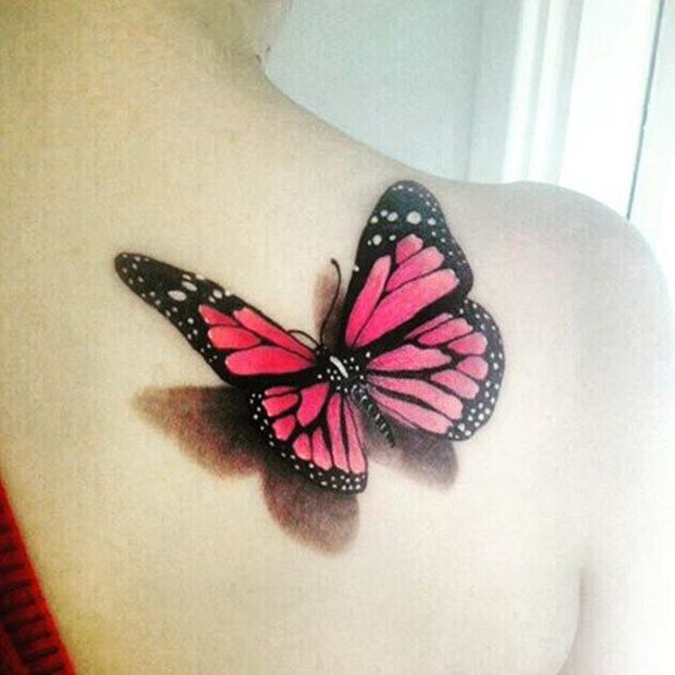 Best 25 3D Butterfly Tattoo Ideas On Pinterest 3D Ideas And Designs
