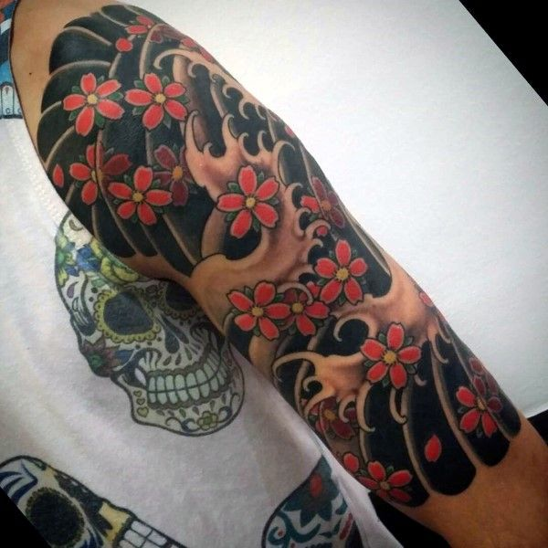 100 Cherry Blossom Tattoo Designs For Men Floral Ink Ideas And Designs