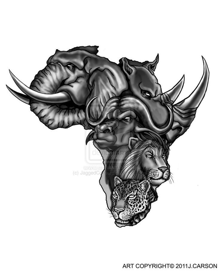 African Animals In Map African Tattoo Design Knowledge Ideas And Designs