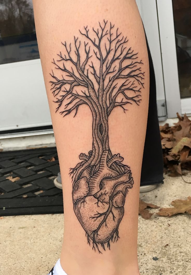 The 25 Best Tree Heart Tattoo Ideas On Pinterest 3 Ideas And Designs