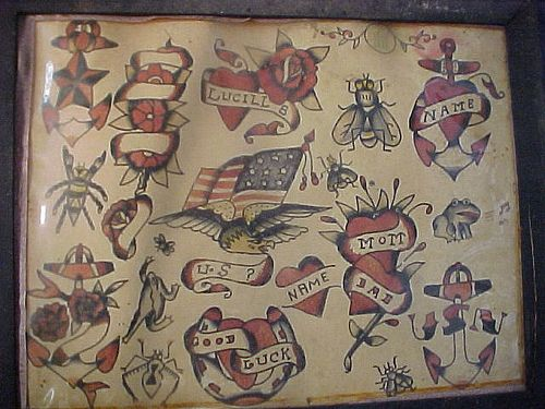 38 Best 1930 Vintage Tattoo Flash Pages Images On Ideas And Designs