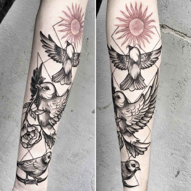 34 Best Rose And Sun Tattoos Images On Pinterest Tattoo Ideas And Designs