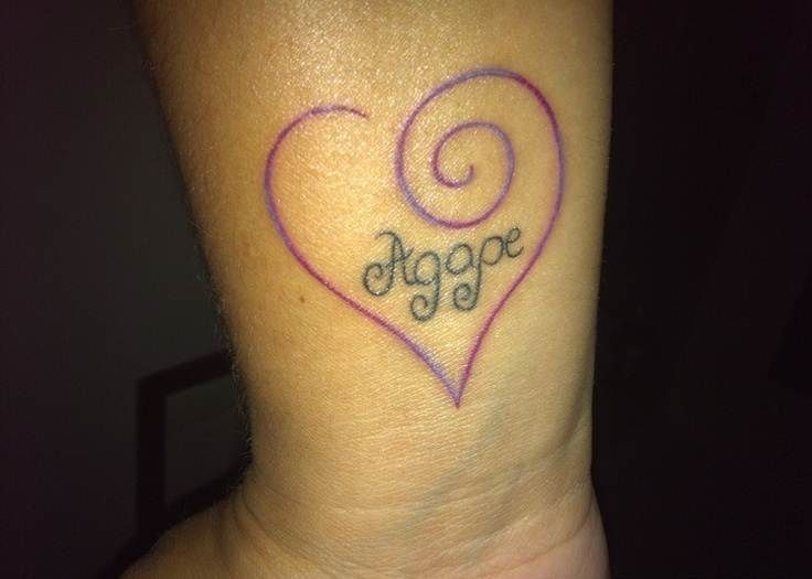 Best 25 Agape Tattoo Ideas On Pinterest Unconditional Ideas And Designs